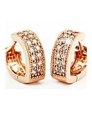 Недорогие -Жен. Серьги-кольца Серьги, обнимающие мочку уха Стерлинговое серебро Серебристый Серьги Дамы Камни по месяцу рождения Бижутерия Розовый Назначение