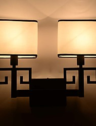 Double Arms Modern Metal Cloth Lampshade Wall Lamp Industrial Decorate for Living Room / Study Room / Corridor Wall Lamp