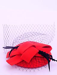 Недорогие -Фланелет / Перья / Сеть Fascinators с 1 Свадьба / Особые случаи / Повседневные Заставка