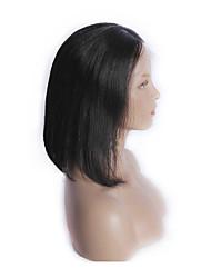 Недорогие -в наличии 10-30inch необработанного перуанской девственные волосы боб прямой натуральный черный парик фронта шнурка