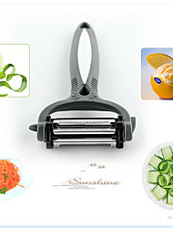 4in1 Multi-fonction Kitchen Tool Set Peeler Grater Slicer Peel Orange Random Color