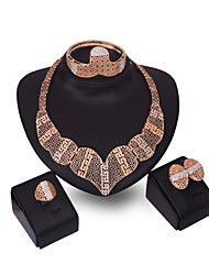 Latest Ladies Fashion European And American Exaggeration Jewelry Set / Necklace / Ring / Earrings / Bracelet