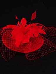 Flax Feather Net Fascinators Headpiece Classical Feminine Style