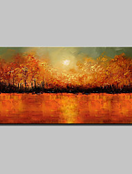 cheap -Lager Handmade Colorful Tree Landscape Oil Painting On Canvas Wall Paintings For Living Room Home Decor Whit Frame
