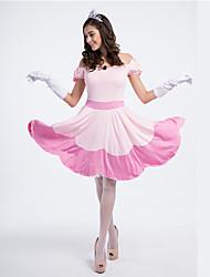 Da principessa Fiabe Costumi Cosplay Donna Halloween Carnevale Feste/vacanze Costumi Halloween Rosa Collage