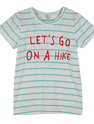 preiswerte -Jungen T-Shirt Alltag Gestreift Baumwolle Sommer Kurzarm Hellblau