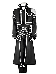 cheap -Inspired by Sword Art Online Kirito Anime Cosplay Costumes Cosplay Suits Solid Colored Long Sleeves Coat Pants Gloves Apron T-shirt For