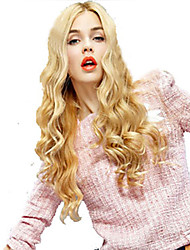 cheap -Fashion Lady Style Capless Fashion Long Curly Blonde Synthetic Wigs