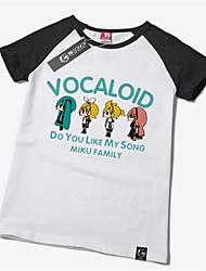 economico -Ispirato da Vocaloid Hatsune Miku Anime Costumi Cosplay Cosplay T-shirt Con stampe Manica corta T-shirt Per Unisex