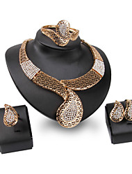 cheap -Women's Jewelry Set - Rhinestone Personalized, Vintage, Fashion Include Gold For Wedding / Party / Special Occasion / Rings / Bracelets & Bangles