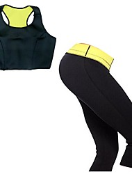 cheap -Women Neoprene Fitness Yoga Sport Tops + High Waist Capris