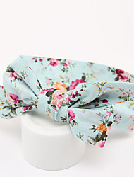 Kid's Floral Pattern  Lovely Big Bowknot Headband(0-10Years Old)