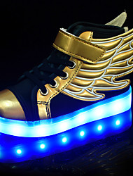 cheap -LED Light Up Shoes, Boys' Shoes Athletic / Casual Synthetic Fashion Sneakers Black and Gold