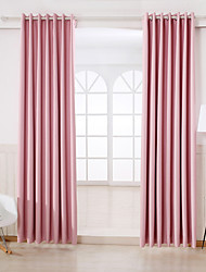 Rod Pocket Grommet Top Tab Top Double Pleat Two Panels Curtain Modern Solid Bedroom Rayon Material Blackout Curtains Drapes Home