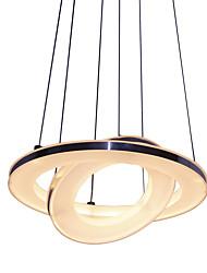 Недорогие -Подвесные лампы Рассеянное освещение Матовый Металл Акрил LED 90-240 Вольт Теплый белый / Холодный белый Светодиодный источник света в комплекте / Интегрированный светодиод / FCC