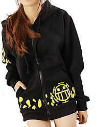cheap -Inspired by One Piece Trafalgar Law Anime Cosplay Costumes Cosplay Hoodies Print Long Sleeves Top More Accessories For Male Female