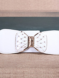 cheap -Women Leather Bow Wide Belt,Vintage / Cute / Party / Casual Alloy