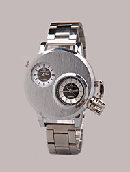 cheap -Men's Quartz Wrist Watch Casual Watch Alloy Band Charm Black Silver