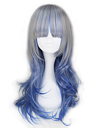 abordables -Pelucas Lolita Lolita Azul Princesa Peluca de Lolita  55 CM Pelucas de Cosplay Halloween Pelucas Para