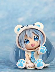 cheap -Anime Action Figures Inspired by Cosplay Snow Miku PVC 7 CM Model Toys Doll Toy