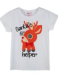 preiswerte -Jungen T-Shirt Alltag Tierfell-Druck Baumwolle Sommer Kurzarm Weiß Grau