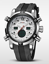 cheap -WEIDE® Men's Brand Luxury Analog & Digital Double Time Black Rubber Quartz Watch Cool Watch Unique Watch Fashion Watch