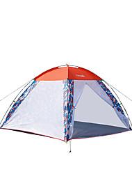 levne -Makino 3-4 osoby Stříška Trojitý Camping Tent jeden pokoj Dobře větraný Větruvzdorné Proti hmyzu Prodyšnost pro Rybaření Plážové Vevnitř