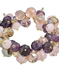 preiswerte -Damen Strang-Armbänder Aleación Schmuck Party Alltag Modeschmuck Schwarz Rosa