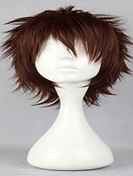 cheap -Popular Cosplay Wigs Natural Wig Man's Wig Dark Brown Short Curly Animated Synthetic Hair Wig