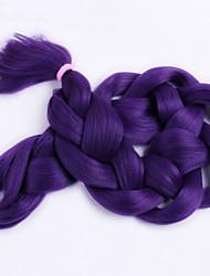 """Tresses Jumbo Tresse Natté boîtes Tresses 24 """" Cheveux 100 % Kanekalon Violet Rajouts de Tresses Extensions de cheveux"""
