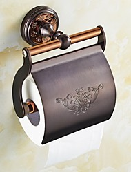 Toilet Paper Holder / Gold Brass /Neoclassical