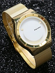 cheap -Men's Quartz Wrist Watch Hot Sale Stainless Steel Band Charm Unique Creative Watch Gold