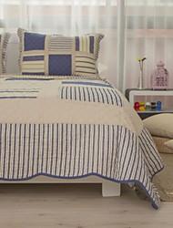 abordables -Mode 100% coton 3 pièces matelassé ensemble couvre-lit, queen size