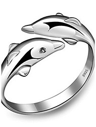 cheap -Women's Sterling Silver / Silver Band Ring - Love / Fashion Silver Ring For Wedding / Party / Gift