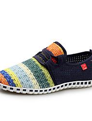 Недорогие -Синий / Розовый / Темно-синий-Женская обувь-На каждый день / Для занятий спортом-Тюль-На плоской подошве-С круглым носком-Кроссовки