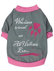 preiswerte -Katze Hund T-shirt Hundekleidung Atmungsaktiv Lässig/Alltäglich Buchstabe & Nummer Rot Rosa Kostüm Für Haustiere