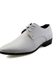 cheap -Men's Shoes Leatherette Spring / Fall Formal Shoes Oxfords Walking Shoes White / Black / Silver
