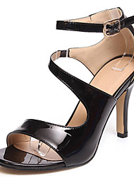 cheap -Women's Shoes Patent Leather/Stiletto Heels/Open Toe Sandals Office & Career/Party & Evening/Dress