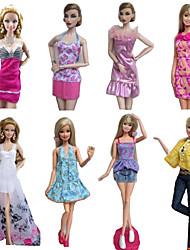Princesse Costumes Pour Poupée Barbie Robes Jupes Hauts Pantalon Pour Fille de Jouets DIY