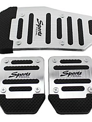 ZIQIAO 3 Pcs Aluminium Alloy Racing Sports Manual Automobiles Non-Slip Foot Pedals