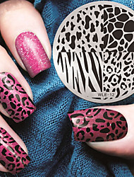 cheap -2016 latest version fashion pattern leopard print nail art stamping image template plates