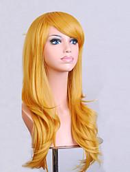 preiswerte -Modefarbe cartoon farbige Perücken Sonder Maskerade 70 cm gelbe Perücke