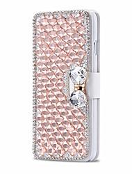 Недорогие -роскошный блестящий алмаз полный пу кожаный чехол крышка с безопасной пряжкой случае сотового телефона побрякушки для iphone 5 / 5s