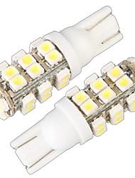 Недорогие -T10 W5W 168 194 поворота светлая сторона клина шарика белый 28 SMD LED свет (12v, 2 шт)