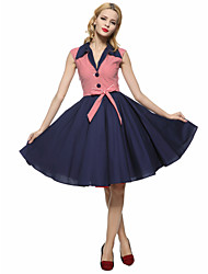 cheap -Maggie Tang Women's 50s VTG Retro Nautical Sailor Rockabilly Hepburn Pinup Cos Party Swing Dress 573