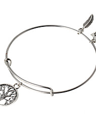 HUALUO®European and American retro steel ring bracelet pendant wild tree of life bracelet Ms. bracelet Christmas Gifts