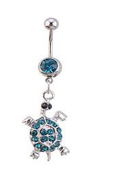 Femme Bijoux de Corps Anneaux de Nombril Zircon Imitation de diamant Original Mode Bijoux Blanc Bleu Bijoux Quotidien Décontracté 1pc