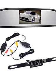 "cheap -4.3"" TFT LCD Monitor Car Rearview Wireles 170° Backup Reverse Camera Kit Night Vision"