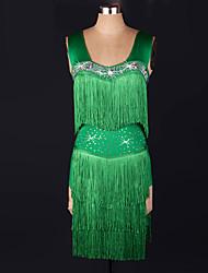 abordables -Devrions-nous des robes de danse latine, la robe de spandex de performance féminine