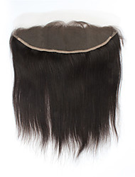 "8""-20"" Full Lace Straight Human Hair Closure Medium Brown / Dark Brown Swiss Lace gram Cap Size"